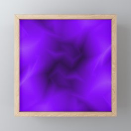 Bright lines of violet funnels with a voluminous gap. Framed Mini Art Print