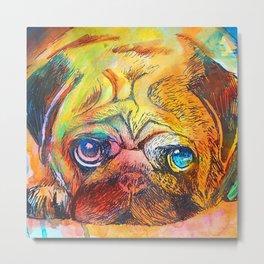 Pop Art Pug Metal Print