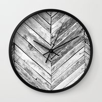 antique Wall Clocks featuring Antique Wood by Patterns and Textures