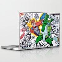 starlord Laptop & iPad Skins featuring Starlord Vs. Evil by Hugo Maldonado