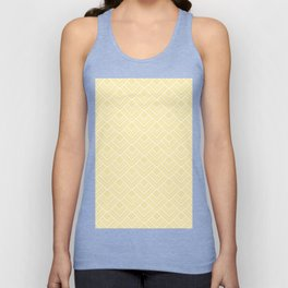 Summer in Paris - Sunny Yellow Geometric Minimalism Unisex Tank Top