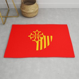 Languedoc Roussillon france country region flag Rug