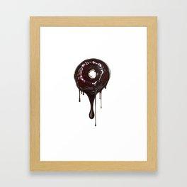 Wet Chocolate Donut  Framed Art Print