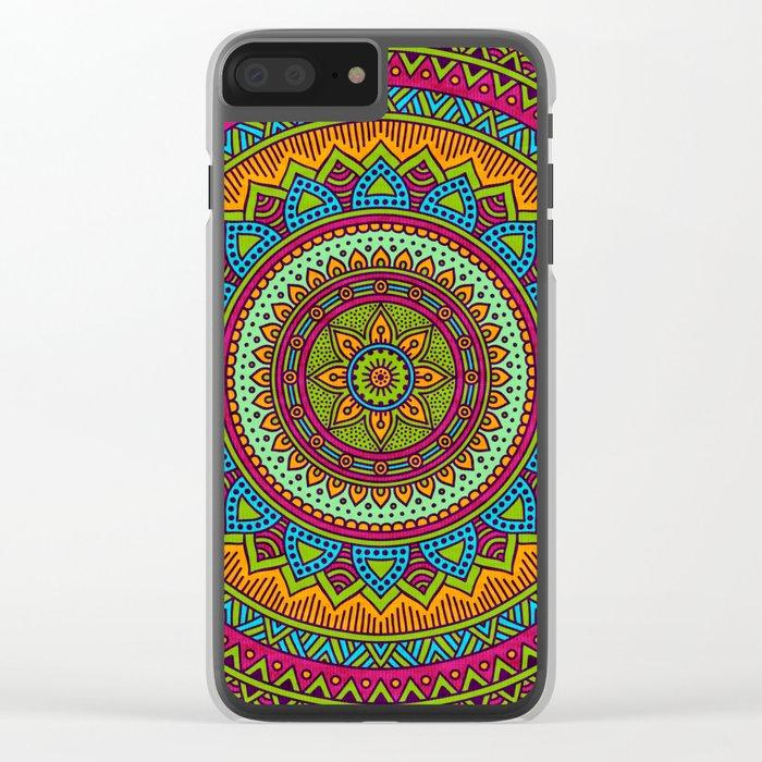 Hippie mandala 53 Clear iPhone Case