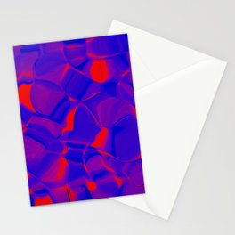 brilliant orange with blue Stationery Cards