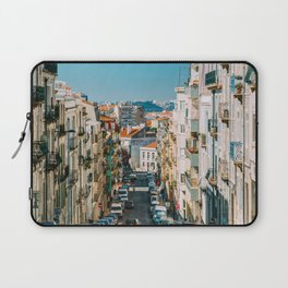 Beautiful Streets Downtown Lisbon City, Wall Art Print, Modern Architecture Art, Poster Decor Laptop Sleeve