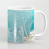 swim Mugs featuring Swim by TiannaFowler
