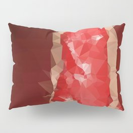 Low poly red dress Pillow Sham