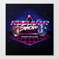 regular show Canvas Prints featuring Regular 80's Show by Gazulo Marquez