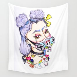 Toxic Pastel Goth Wall Tapestry