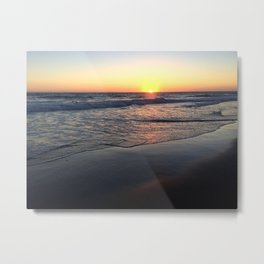 Reflections at Sunset on a California Beach Metal Print