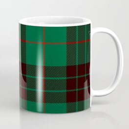 Dark Green Tartan with Black and Red Stripes Coffee Mug