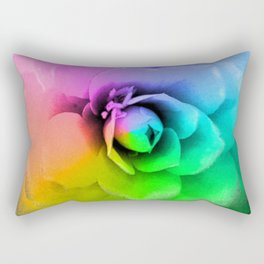 Rainbow Blossom Rectangular Pillow