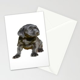 Adorable and Cute Black Labrador Puppy Vector Stationery Cards