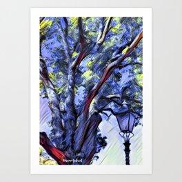 Tree and Light Art Print