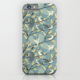 Golden-crowned Kinglets in a Pussy Willow (Dawn) iPhone Case