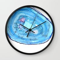 agate Wall Clocks featuring Agate by sadiesavestheday
