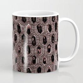 Watercolour Blackwork: 'Lozenge' Burnt Rose 1 (dark) Coffee Mug