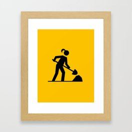 Workwoman Framed Art Print