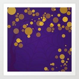 Purple and Gold - Halloween Art Print