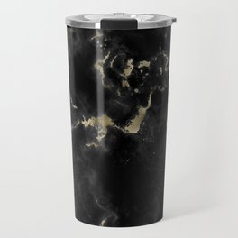 Black and Gold Marble Travel Mug