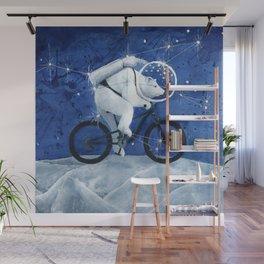 Polar bear on the Moon Wall Mural