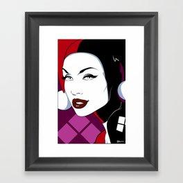 Nagel Style Harley Quinn Framed Art Print