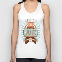 ale giorgini Tank Tops featuring All Hail Real Ale by Kerry Hyndman