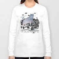 fog Long Sleeve T-shirts featuring The Fog by littleclyde