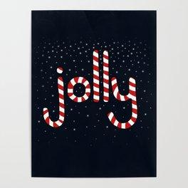 Jolly Christmas Word Art Poster