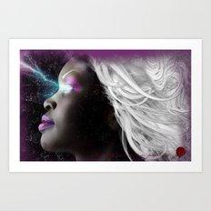 Portrait of Storm From the X Men Art Print