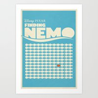 finding nemo Art Prints featuring Finding Nemo Movie Poster by RoarsAdams