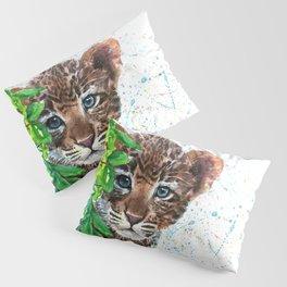 Little Leopard watercolor Pillow Sham