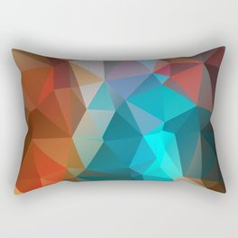 Abstract bright background of triangles polygon print illustration Rectangular Pillow