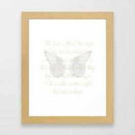 The First Noel angel wings Framed Art Print