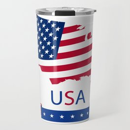Creative Design of Flag Map Flag Star USA flag America flag Travel Mug