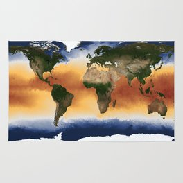 A Portrait of Global Sea Surface Temperatures Rug