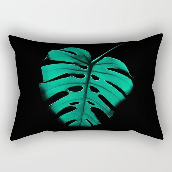 Monstera Portrait Rectangular Pillow