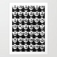risa rodil Art Prints featuring Muerta de Risa by SARA PUIG