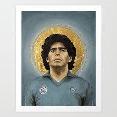 D10S - Football Icon Art Print