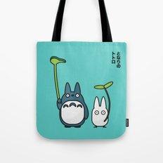 Chu & Chibi Totoro Pop art - Blue Version Tote Bag
