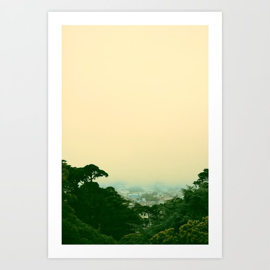A Chance of Cloudy Weather Art Print