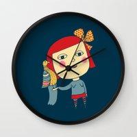 lolita Wall Clocks featuring lolita by sylvie demers