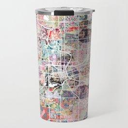 Des Moines map Travel Mug