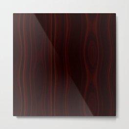 Mahogany Wood Texture Metal Print