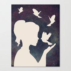 Bisou Oiseau Revisited Canvas Print