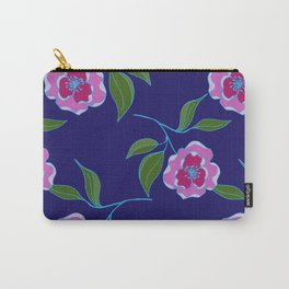 Peony Floral Floating Pattern Carry-All Pouch