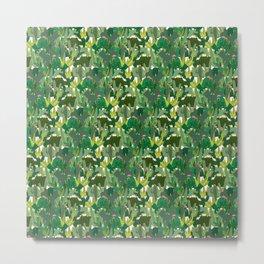 Cute flowery cactus print Metal Print