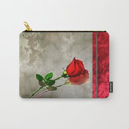 Rose on Marble Carry-All Pouch