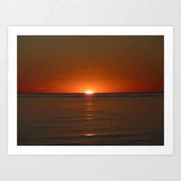 Michigan Sunset 4 Art Print